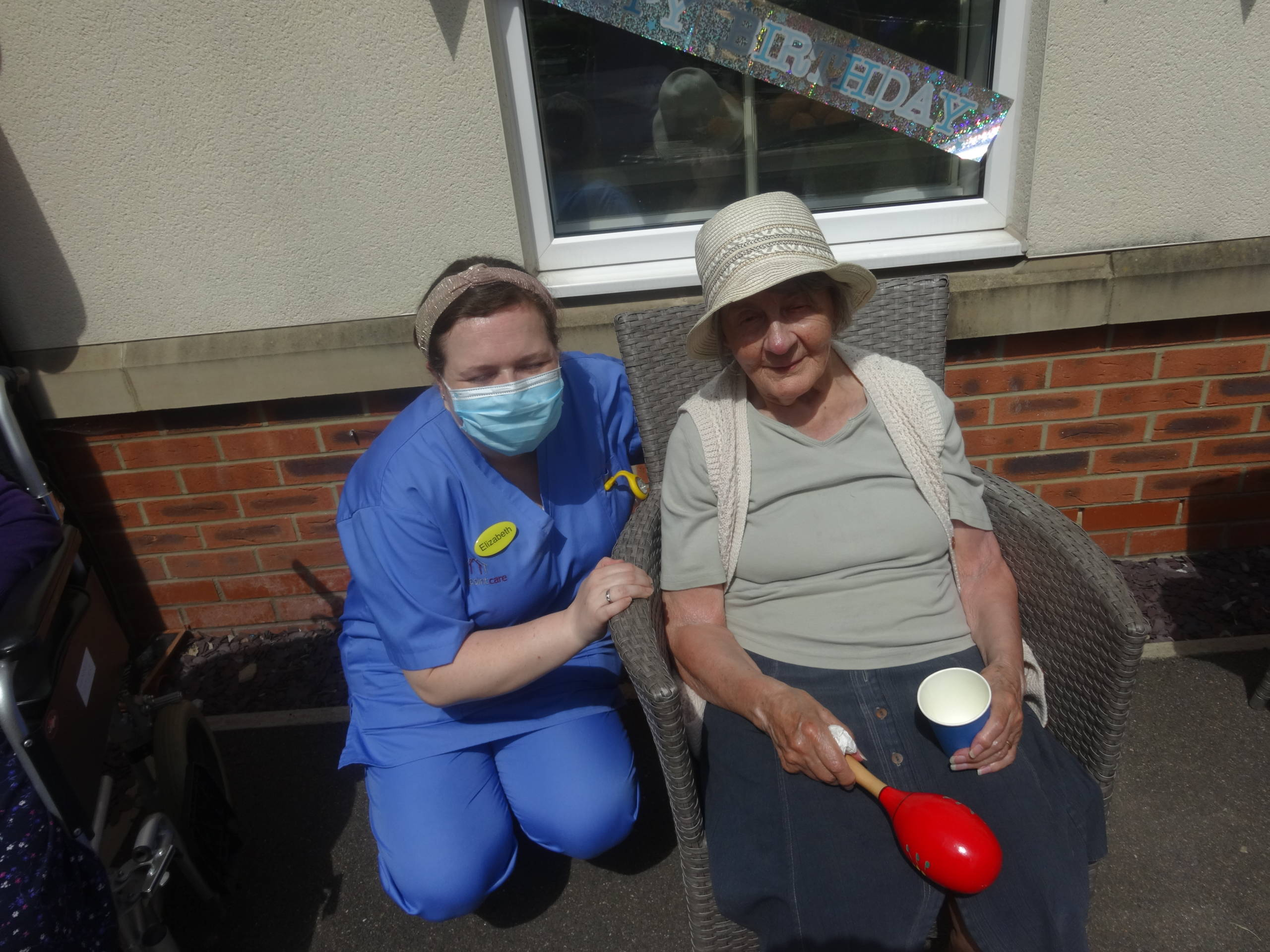 Colliers Croft Residential Care Home Resident and care worker